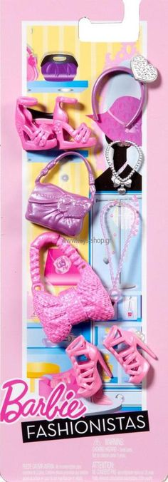 Barbie Fashionista Fashion Accessory Pack BNIP Shoes, Jewelry & Purses!!  N4811 #Mattel #ClothingShoes