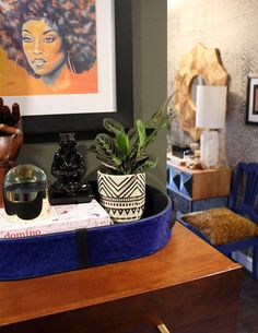 Before & After: Making Maximalism Work in a Tight Space, Design*Sponge Styling Bookshelves, Black African American, Room Accessories, Paint Colors, Tights, Maximalism, Space, Book Lists, Vignettes