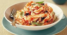 Crunchy pine nuts make this vegetarian pasta irresistible.