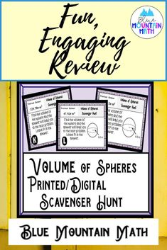 Looking for a fun, engaging activity that gets the kids moving and talking about math? In this resource, students practice finding the volume of spheres and you can choose between a printed activity or digital (self-grading) activity. The printed activity works great in the classroom while the digital activity can be used for distance learning or absent students.