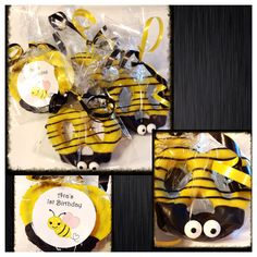 Bee party Bumble bee chocolate covered pretzels  by Sparklesbaby, $21.00