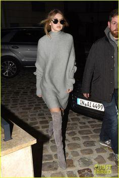 Gigi & Bella Hadid Visit Karl Lagerfeld's Office in Paris