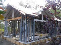 detalle de casa en steel frame Villa la Angostura patagonia (Meier & Lanz) Metal Stud Framing, Steel Framing, Camotes Island, Fancy Houses, Steel House, Metal Buildings, My Dream Home, House Plans, Patagonia