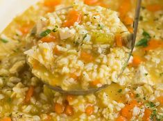 It's freezing outside! It's perfect time to make hearty andcomforting foods, right? A serving does not only warm up your body right butalso boosts your energy levels. Chicken and Rice Soup is then worthrecommending. I've served it several times for d Chicken Rice Soup, Chicken Soup Recipes, Healthy Soup Recipes, Crockpot Recipes, Cooking Recipes, Avocado Toast, Low Sodium Chicken Broth, Winter Soups, Soups And Stews