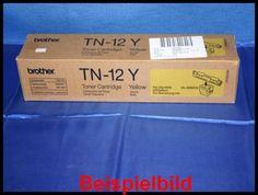 Brother TN-12Y Lasertoner Yellow / Gelb -A  - für Brother HL-4200CN    Zur Nutzung für private Auktionen z.B. bei Ebay. Gewerbliche Nutzung von Mitbewerbern nicht gestattet. Toner kann auch uns unter www.wir-kaufen-toner.de angeboten werden.