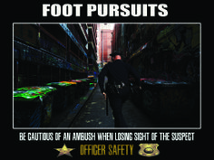 Officer safety foot pursuits poster