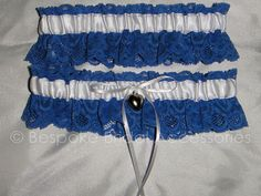 White and Blue Lace Garter by BespokeBridalSA on Etsy, $20.00