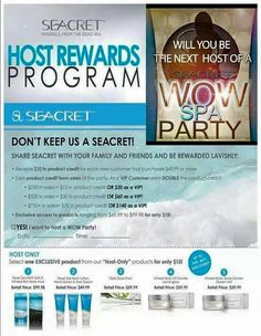 Host a seacret party with me!! Ask me how!!