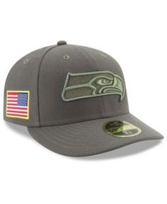 New Era Seattle Seahawks Salute To Service Low Profile 59FIFTY Fitted Cap -  Green 7 1 e45a89d63