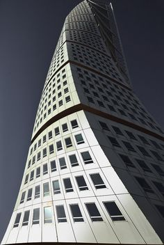 Turning Torso Tower in Malmö, Sweden, by Santiago Calatrava
