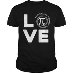 Get yours hot Love Pi Cute Pi Day Math Teacher Best Gift Shirts & Hoodies.  #gift, #idea, #photo, #image, #hoodie, #shirt, #christmas