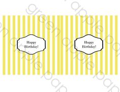 Chocolate Bar Wrappers - PRINTABLE only - Candy Bar Wrappers. $5,00, via Etsy.