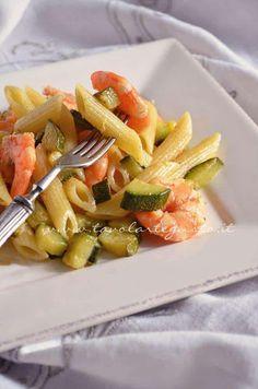 Pasta zucchine e gamberi - Ricetta Pasta Zucchine e gamberi