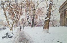 Peto Poghosyan Path, 29x42 cm, watercolor on paper, 2017