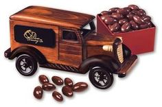 Classic Wooden 1938 Deliery Van Truck with your logo. #custom #truck #candy #treat #toy #newtonscreen #printingsmiles