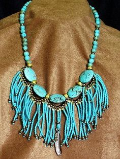 Native American style fringed beaded by MontanaTreasuresbyMJ, Native American Seed, Native American Beadwork, Native American Fashion, Indian Beadwork, Native Beadwork, Beading Patterns Free, Seed Bead Patterns, Magazine Beads, Beaded Jewelry