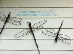 making dreamy dragonflies for the garden, diy home crafts, gardening, repurposing upcycling, Barbed wire dragonflies