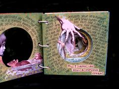 """Ingrid Dijkers: """"Through the Rabbit-Hole"""" Tunnel Book in color"""