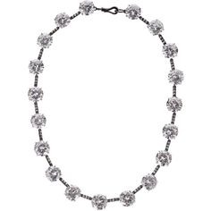 Bottega Veneta Oxidized sterling silver cubic zirconia necklace (4.840 BRL) ❤ liked on Polyvore featuring jewelry, necklaces, bottega veneta, jewels, silver, bottega veneta jewelry, cz necklace, cubic zirconia jewelry and handcrafted jewelry