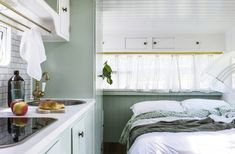 Beautiful Vintage Viscount Caravan Ideas With Boho Interior, The caravan needs to be levelled on a set firm surface. If you own a caravan that you're seeking to sell talk to us about finding the most suitable bu. Diy Caravan, Caravan Decor, Retro Caravan, Caravan Ideas, Caravan Interiors, Camper Ideas, Caravan Storage Ideas, Rv Storage, The Block