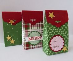 StampinClubNederland : boxes for Christmas, Cheerful Tags, Trim the Tree Paper Stack