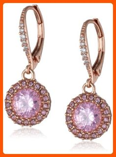 "Betsey Johnson ""Rose Gold Boost"" Small Round Crystal Drop Earrings - All about women (*Amazon Partner-Link)"