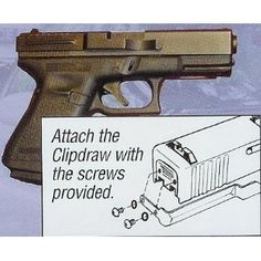 Glock Clipdraw Fits Models 17, 19, 22, 23, 24, 25, 26, 27, 28, 31,32, 33, 34, 35 and 36