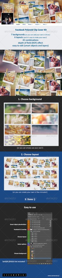 Facebook Polaroid Clip Cover Kit! (.PSD). Buy it on Graphicriver for just $3