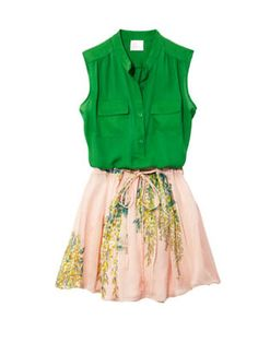It's the first day of spring! 10 cool ways to wear florals: Pretty in Pink (and Green) Top, Parker, $176,