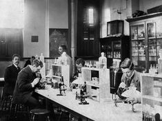 Art Print: Bacteriology Laboratory at Howard University Photograph - Washington, DC by Lantern Press : Historical Fiction, Historical Photos, Howard University, University Life, Collage, Free Canvas, Stock Art, Modern Photography, Antique Maps