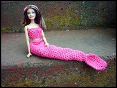 Crochet Barbie Mermaid Tail