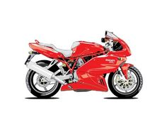 Vehicle Wall Decals  Red Ducati Motorcycle  48 inch Removable Graphic ** Click image for more details.