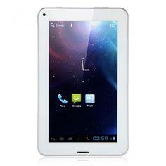SoXi X8 7 Inch Tablet PC CDMA2000 Android 4.0 8GB Bluetooth Dual Camera White