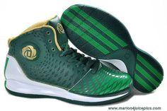 Green White Gold Adidas AdiZero Derrick Rose 3.5 Outlet