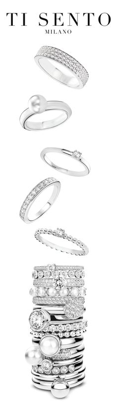 Stack your way to the top! Ti Sento Milano has the ring just for you! Come find it at Coughlin Jewelers in St. Clair, Michigan.