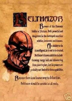 "Book of Shadows:  ""Belthazor."""