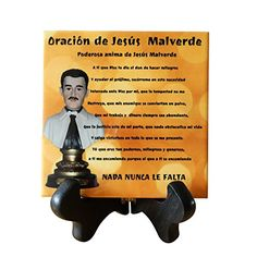 Jesus Malverde Placa Altar en Varios tamanos Several Sizes 4 x 4 * You can get additional details at the image link.