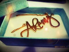 ♥ Collar de plata 950 baniado en oro de 18 #jewerly #namenecklace #akemy #mothersday