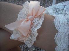 Handmade Plus size Barely Peach Lace Garter @Luulla.com