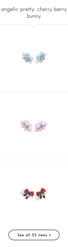 """angelic pretty: cherry berry bunny"" by scoutvenus ❤ liked on Polyvore featuring cuffs, gloves, wrist cuffs, lolita, accessories, jewelry, hair accessories, angelic pretty, bow hair accessories and intimates"