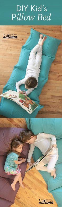 DIY Kid's Pillow Bed