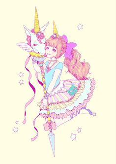❤ Princessa unicornio Kawaii ❤
