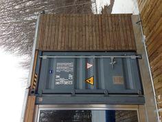 Front door container modules.