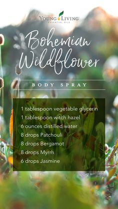 Essential oil mixes - Slay all day DIY body spray with essential oils – Essential oil mixes Jasmine Essential Oil, Essential Oil Spray, Patchouli Essential Oil, Essential Oils For Skin, Essential Oil Perfume, Essential Oil Diffuser Blends, Young Living Essential Oils, Diy Diffuser Oil, Perfume Oils