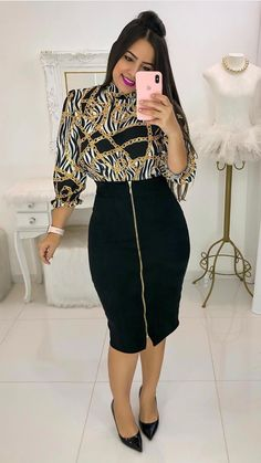 Modest Outfits, Skirt Outfits, Classy Outfits, Chic Outfits, Beautiful Outfits, Trend Fashion, Curvy Fashion, Modest Fashion, Fashion Dresses