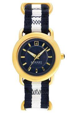 Sperry Top-Sider® 'Hayden' Round Nylon Strap Watch, 36mm   Nordstrom