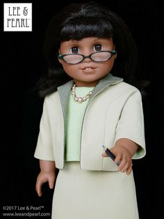 It's Oscar time, and Lee & Pearl are rooting for Hidden Figures! Our American Girl Melody, wearing our COMING SOON Pattern 1964: Ladies' Suit for 18 Inch Dolls, looks just like Taraji P. Henson as NASA mathematician Katherine Johnson. This stylish swing jacket, blouse and skirt ensemble was inspired by an actual 1964 Vogue pattern. Sign up for the Lee & Pearl mailing list at www.leeandpearl.com and we'll let you know as soon as this pattern is available!