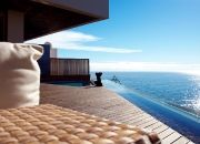 The magnificent ocean view from the balcony at Ellerman Villa