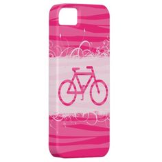 Cute Bicycle Zebra Print iPhone 5 Case ... Too bad Zazzle has to be so expensive!