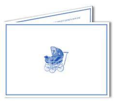 Geburtskarten Kinderwagen - Klappkarte DIN A6 - kleine Auflage